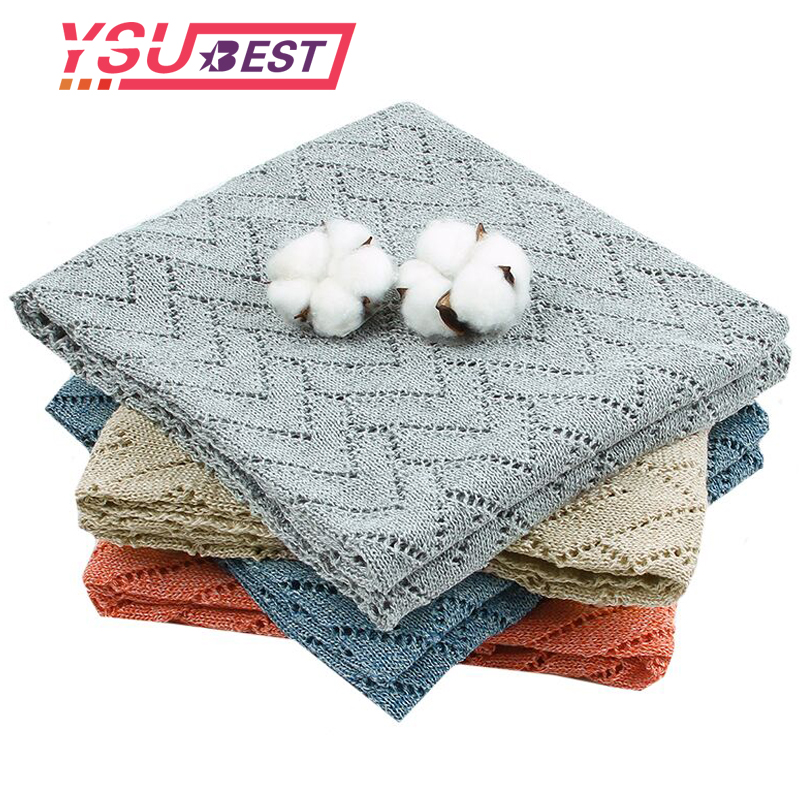 Infant Swaddle Wrap Children Blanket Plaid Muslin Baby Wraps Soft Knitted Newborn Baby Blankets Swaddles Boy Girl Toddler Quilt