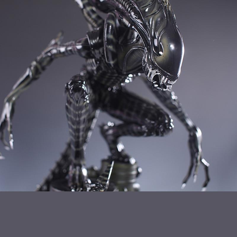 Haute Qualité 1/4 Échelle Alien Guerrier Corps Entier Grande Statue Modèle Sculpture Artisanat Refonte 58 cm hauteur