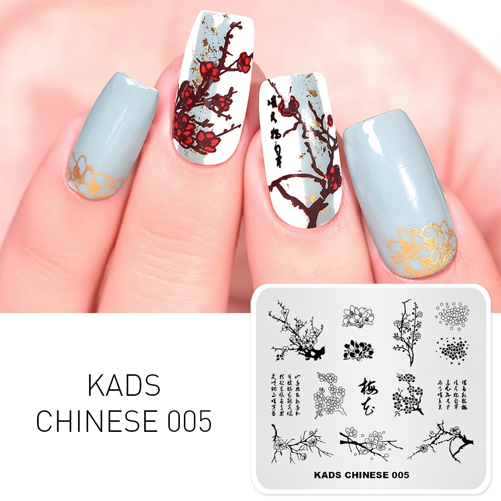 Image 2 - KADS Nail Stamping Plates 38 Design Various Series More Choices Manicure Stamping Template Image Plates For DIY Nail Decoration-in Nail Art Templates from Beauty & Health