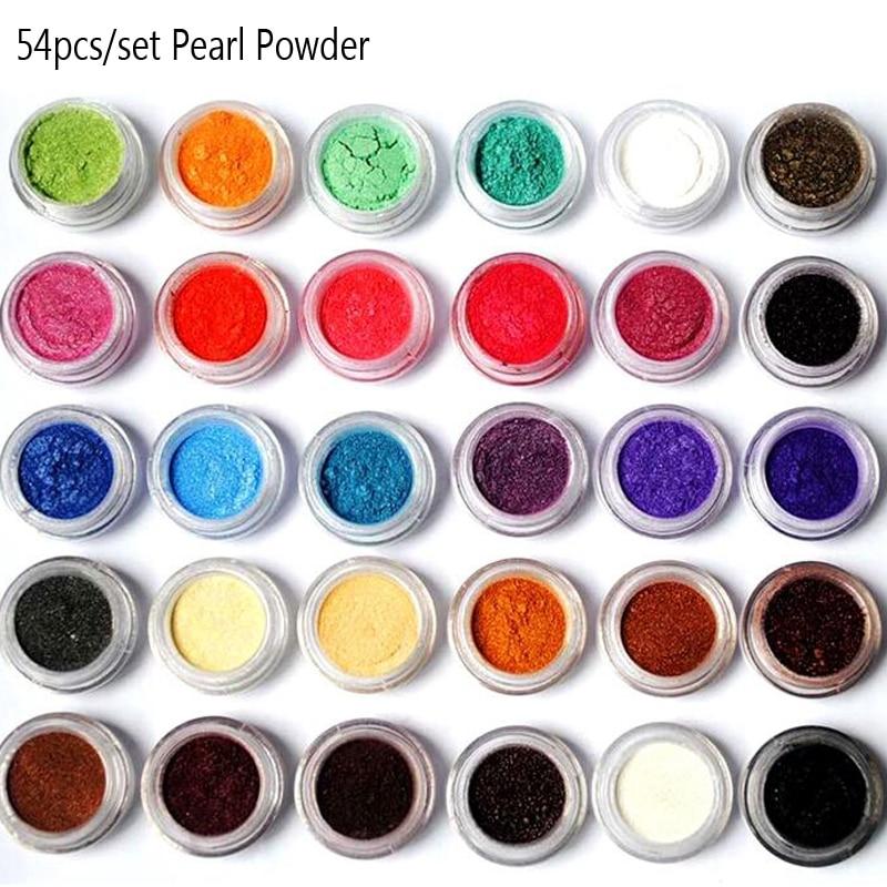 Mica powder pigments 10 ml jar or set of 54 colors natural pearlescent mica powders dye