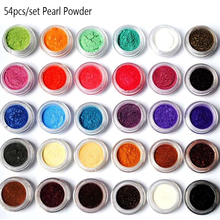Mica powder pigments, 10 ml jar or set of 54 colors, natural pearlescent mica powders, dye for nail cosmetic soap making makeup цена