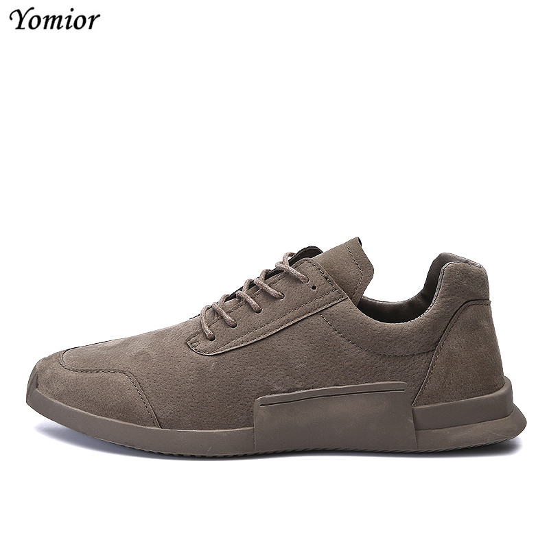 Yomior Men Shoes 2018 New Arrival Fashion Breathable Spring/Autumn Casual Shoes for Men Loafers Moccasins Leather Shoes Sneakers pamasen new spring autumn lace up mens loafers fashion breathable men casual genuine leather shoes designers moccasins men shoes