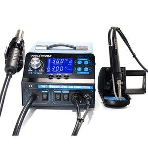 Image 3 - YIHUA 992DA + 4 ב 1 LCD הדיגיטלי אוויר חם אקדח הלחמה תחנה + ואקום עט + עישון חשמלי הלחמה ברזל BGA עיבוד חוזר תחנה