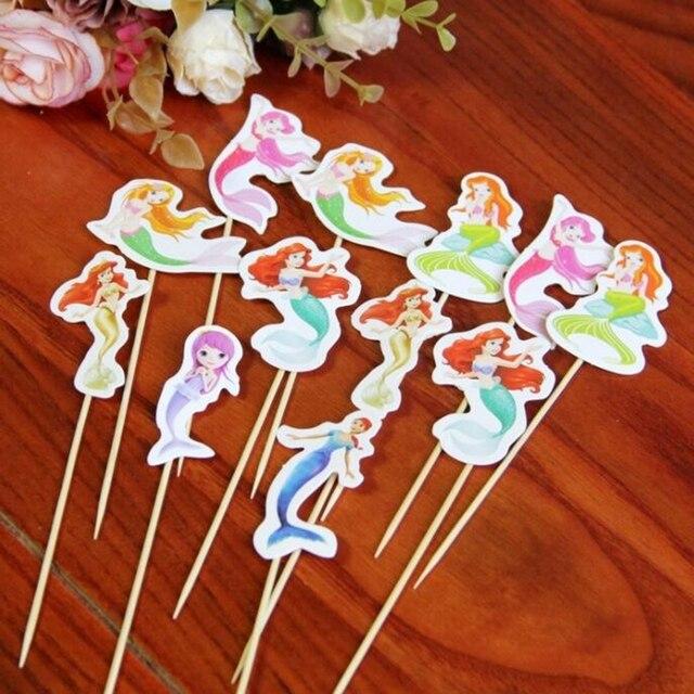 120 Stucke Cartoon Multicolor Mermaid Prinzessin Madchen