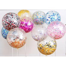 121836inch Clear Confetti latex Balloons rose gold colorful for Wedding Decorations Birthday Party Suppliers Graduation party