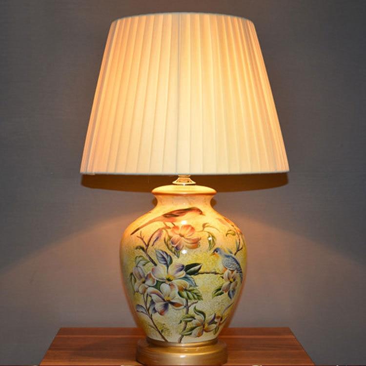 Beautifully Elegant Ceramic Table Lamp Bedroom Desk Lamp