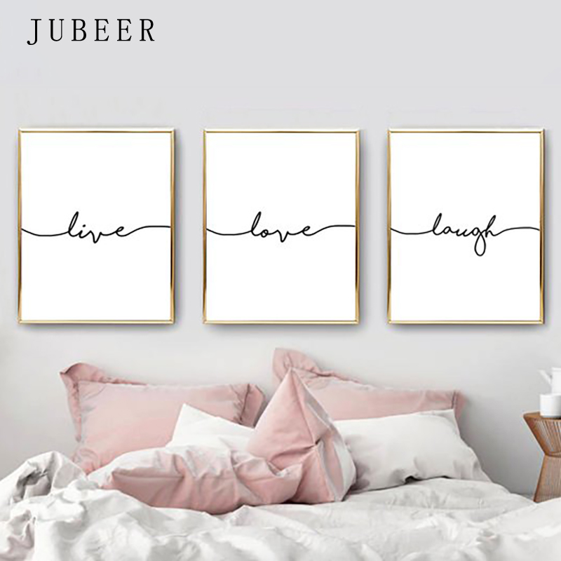 Jubeer Posters And Prints Live Love Laugh Wall Art Canvas Art Painting Decorative Picture Living Room Decor Quote Decoration Aliexpress Com Imall Com