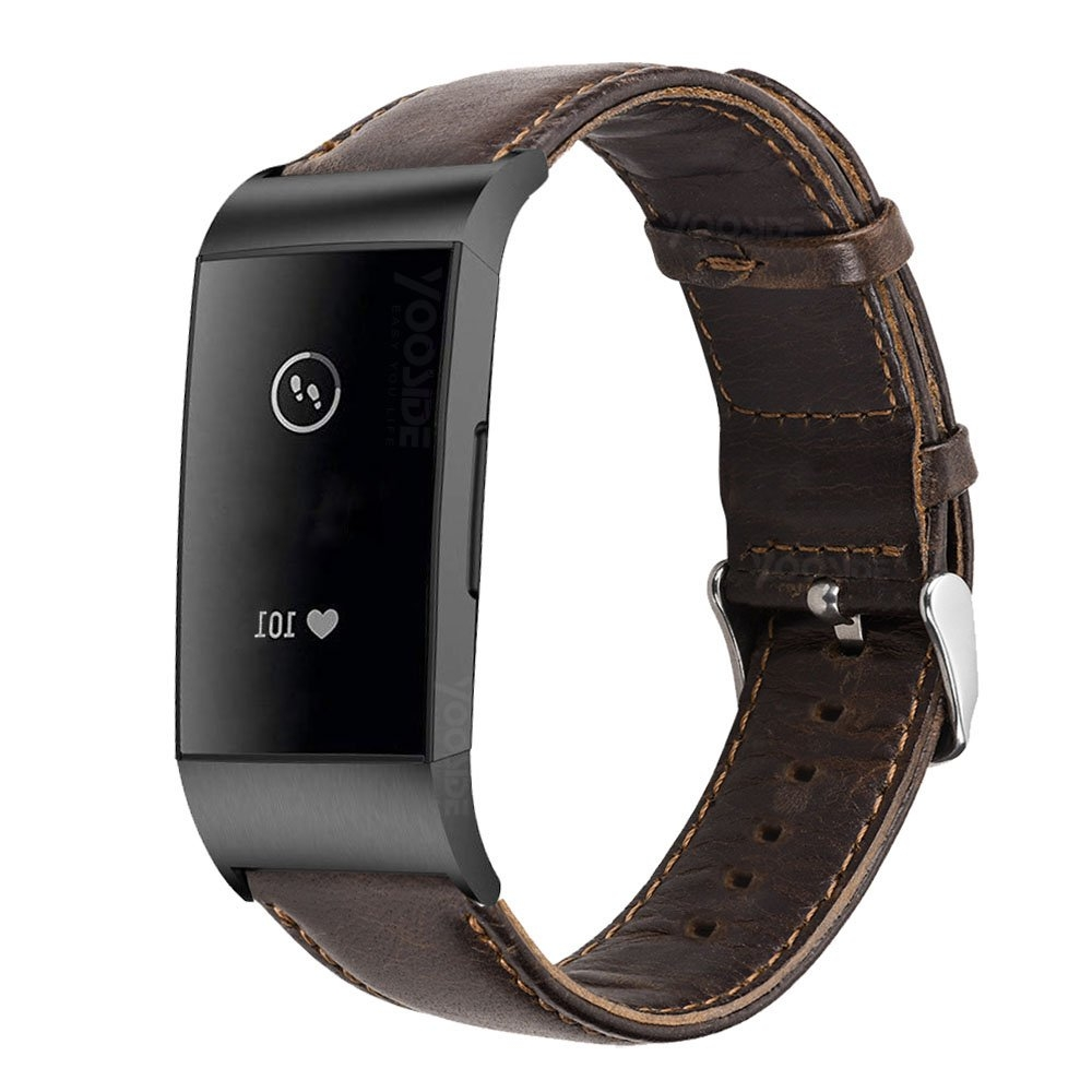Image 5 - YOOSIDE for Fitbit Charge 3 Genuine Leather Band Strap Men Wonwen Wristband for Fitbit Charge 3 /Charge 3 SE Smart BraceletSmart Accessories   -