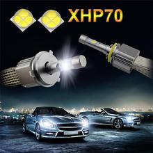 L7 XHP-70 faros led 6000 k 55 w 6600lm led h4 h7 9004 9005 9006 9007 h11 h13 faros led lámpara para coche