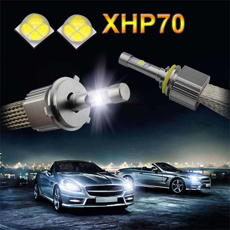 L7 XHP-70 led headlamps 6000k 55w 6600lm led h4 h7 h1 9004 9005 9006 9007 h11 h13 headlights led lamp for car
