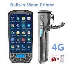 2 в 1 встроенный 58 мм Термопринтер 4G Портативный pos-терминал беспроводной 1D/2D сканер штрих-кода портативный считыватель wifi/Bluetooth PDA