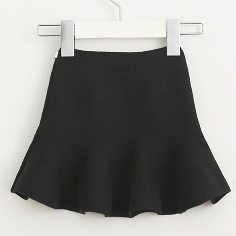 Wool knit solid short skirt girls half skirt 2017 new Korean children\'s clothing children\'s skirt (16)