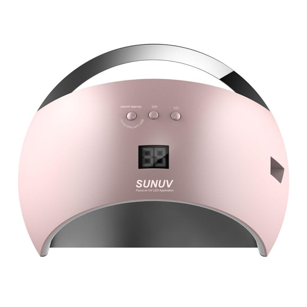 SUNUV SUN6 48 Вт Сушилка для ногтей Новый стиль Портативный УФ-лампы для сушки уникально низкой тепла модель двойной Мощность быстро маникюр крас...
