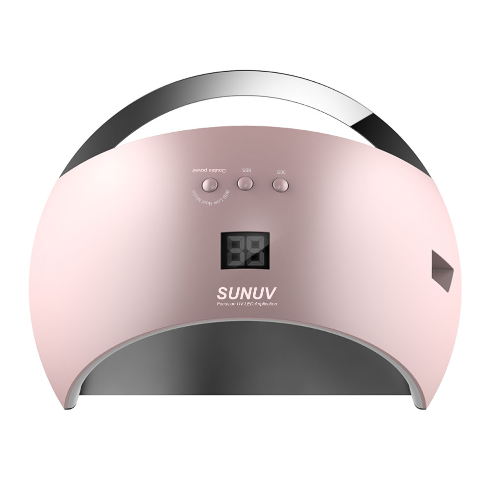 SUNUV SUN6 48W Nail Dryer New Style Portable UV Lamp For Drying Unique Low Heat Model Double Power Fast Manicure Colorful Lamp