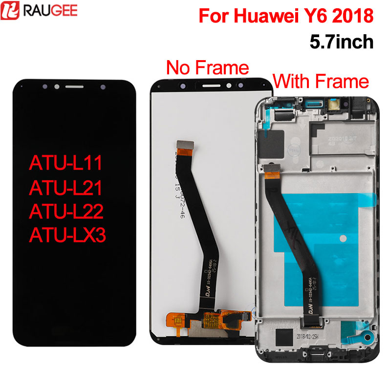For Huawei Y6 2018 LCD Display+Touch Screen New Digitizer Screen Replacement For Huawei Y6 2018 ATU L11 ATU L21 ATU L22 ATU LX3|Mobile Phone LCD Screens| |  - title=