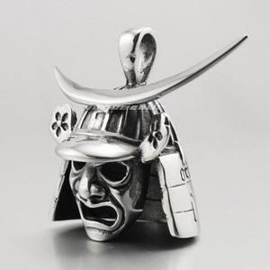 Image 4 - Japanese Samurai Armor Face Mark Pendant 316L Stainless Steel Mens Biker Rocker Punk Style 4P013 Steel Necklace 24inch