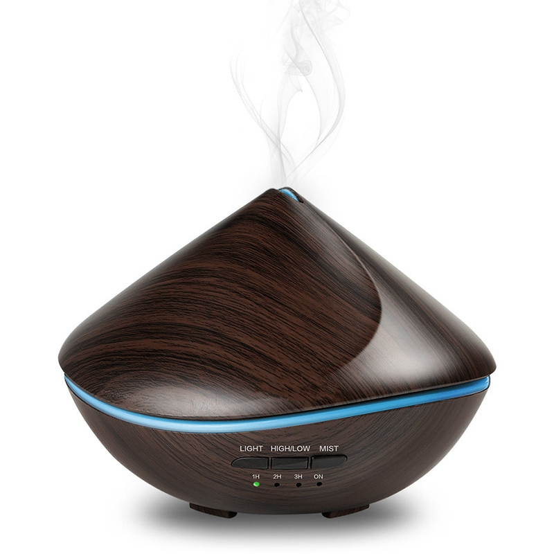 500Ml Wood Grain Essential Oil Aromatherapy Diffuser Air Humidifier With 7Colors Led Night Light For Home Office Mist Maker Eu500Ml Wood Grain Essential Oil Aromatherapy Diffuser Air Humidifier With 7Colors Led Night Light For Home Office Mist Maker Eu
