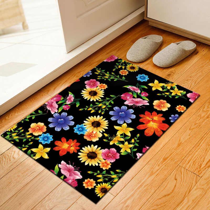Floral Home Mat Kamar Luas Karpet Lantai Karpet untuk Ruang Tamu Kamar Tidur Besar Teralis Kucing Tapete untuk Sala Alfombra Tapis