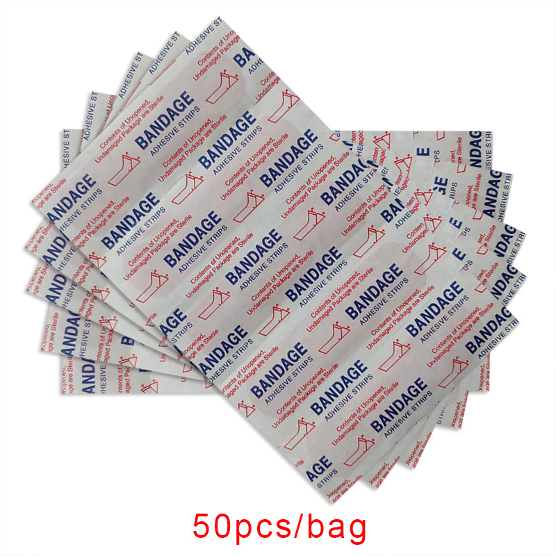 OPHAX 50Pcs Waterproof Band Hemostasis Aid Stickers Adhesive