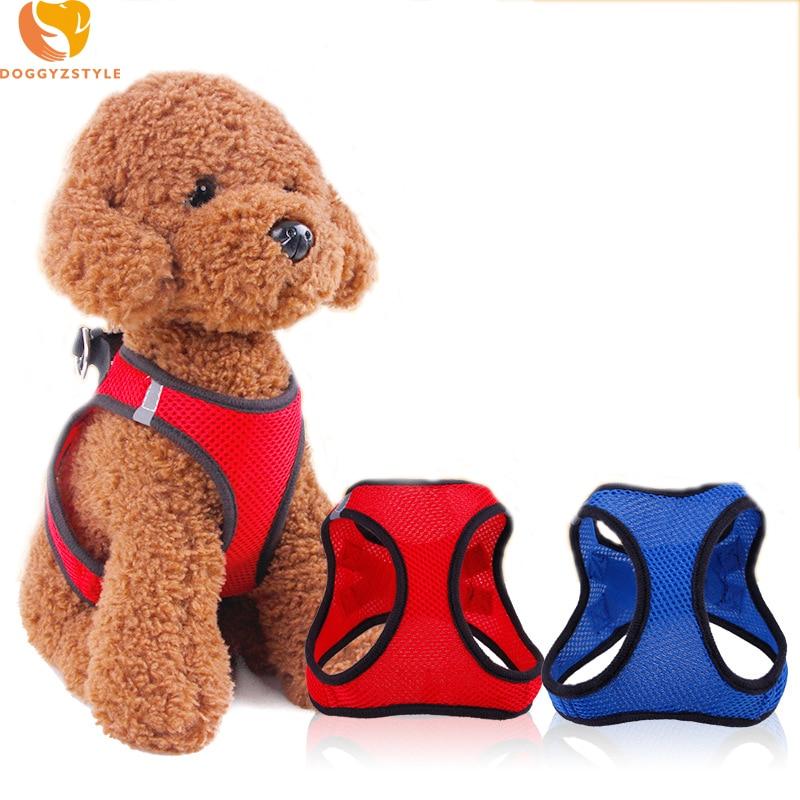 Verstelbare Hondentuig Vest Puppy Kat Polyester Mesh Borst Zachte Comfort Pet Strap Voor Kleine Hond Doggies Accessoires DOGGYZSTYLE