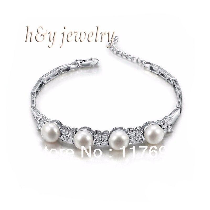 Sinya d'eau douce perle argent bracelet pour les femmes perle dia 8-8.5mm haute luser longueur 16.7 cm Offre Spéciale