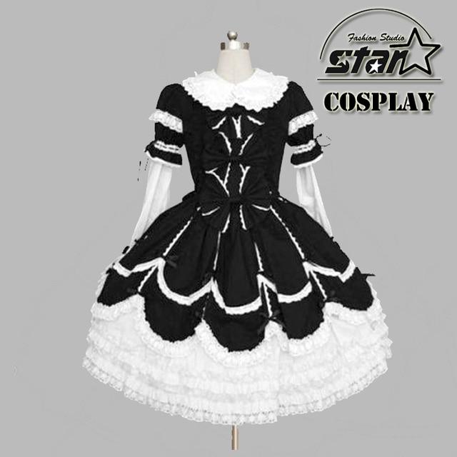 d4a930335b66c US $6.0  Aliexpress.com : Buy Special Customized Summer Girls Dress Lolita  Costume Chiffon Lace Medieval Gothic Dress Princess Cosplay Halloween ...