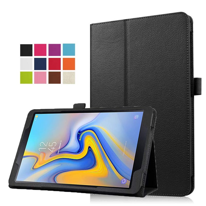 Premium Vegan Leather Stand Cover With Auto Sleep/Wake For Samsung Galaxy Tab A 10.5'' 2018 Model SM-T590/T595 Tablet