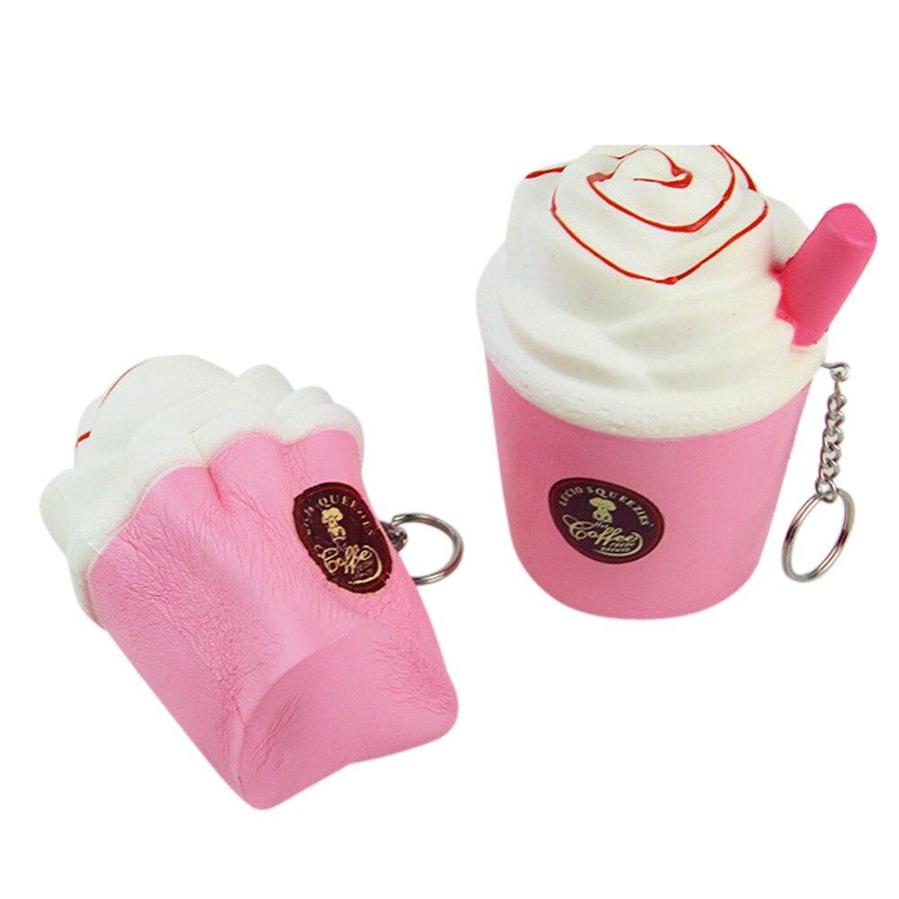 2018 Новый Новинка подарок немного молока мороженое Кубок игрушки мягкими куклы отдохнуть squeeze стресса игрушки развлечения слизь