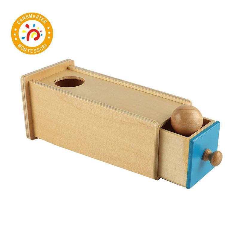 Montessori enfants jouet bébé bois boule rectangulaire tiroir préscolaire formation