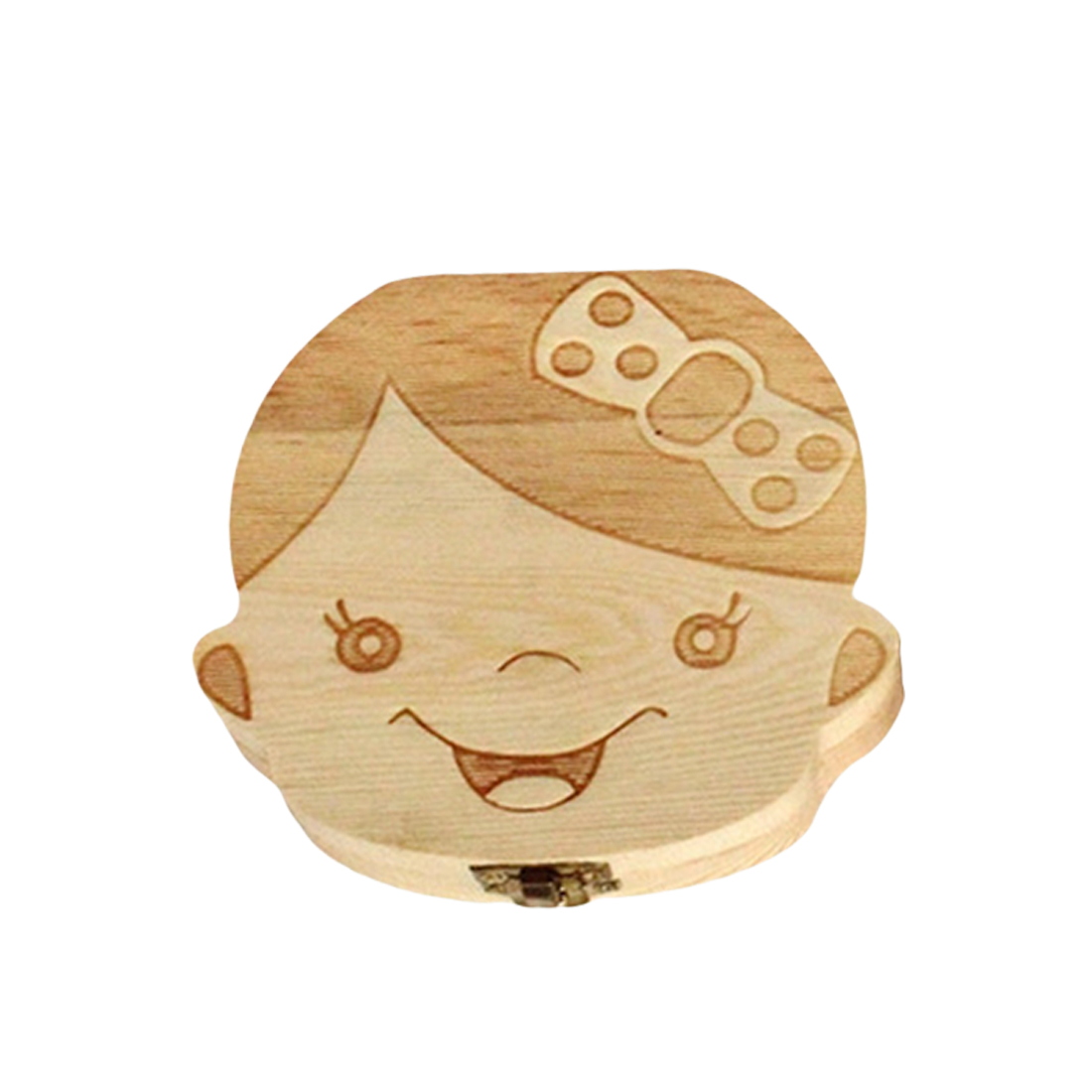 New English Wooden Baby Tooth Box Organizer Milk Tooth Storage Box For Boy Girl Save Teeth Umbilical Cord