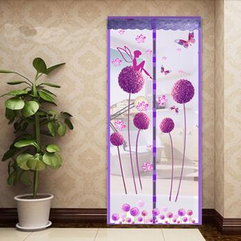 Lato w stylu zamykania siatki moskitiera zasłony na okna zasłony przeciw komarom magnetyczny tiul zasłona prysznicowa moskitiera do drzwi tanie i dobre opinie Door Drzwi i okna ekrany Magnetyczne Zapięcie curtain6 Polyester Fiber Anti Mosquito Curtain