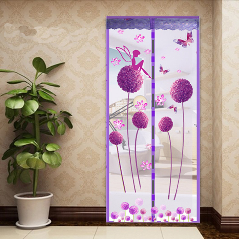 Summer Style Closing Mesh Mosquito Net Window Screens Curtain Anti Mosquito Magnetic Tulle Shower Curtain Door Screen