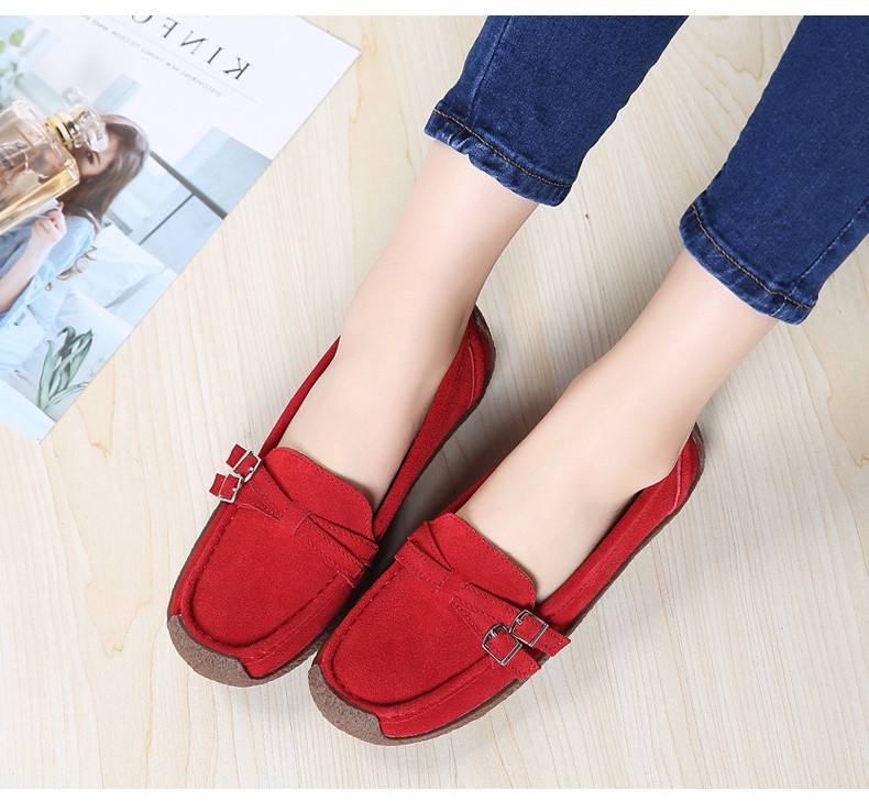 HX 7732-2019 Spring Autumn New Arrival Genuine Leather Women Flats Shoe-17