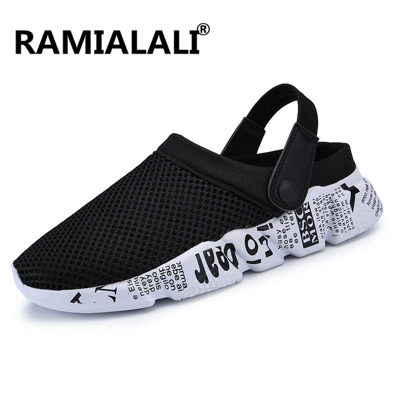 37cfdce01 Ramialali Men s Summer Shoes Sandals New Breathable Men Casual Hollow Out  Slip Ons Beach Men Sandals High Quality Fashion Slides