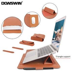 Image 1 - 노트북 가방 PU 가죽 슬리브 가방 케이스 Macbook Air Pro 13 15 노트북 슬리브 가방 Macbook air 11 12 13.3 15.4 인치 케이스