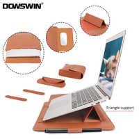 Pochette d'ordinateur sac à manches en cuir PU étui pour Macbook Air Pro 13 15 sac à manches pour ordinateur portable pour Macbook air 11 12 13.3 15.4 pouces
