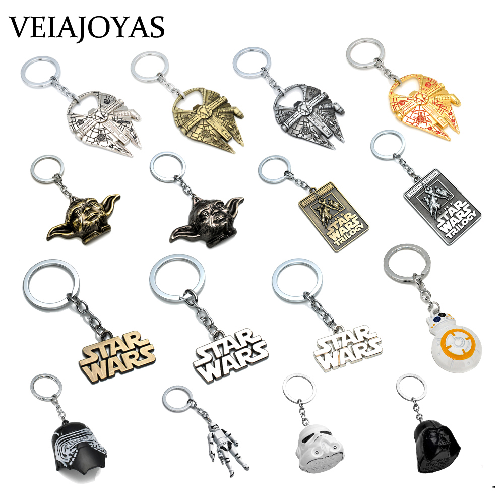 Classic Movie Start Trek Star Wars Spaceship Keychains Millennium Falcon Serenity Firefly Warships Charms Car Key Chains Jewelry image