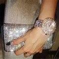 Famous Watch Women Full Rinestone Quartz Watches Relojio Feminino Female Dress Casual Wristwatch Big Dial Diamond Reloj De Mujer