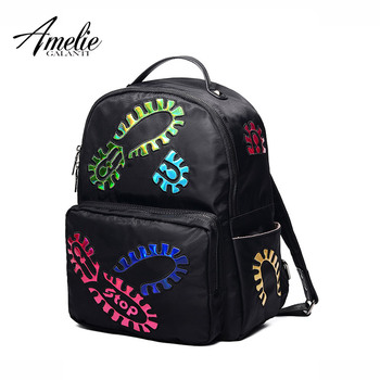 AMELIE GALANTI Fashion Women Backpack Nylon Convenient Women Bag Hard Handle Versatile Thread Air Cushion Belt Softback BackpacK Fashion Backpacks