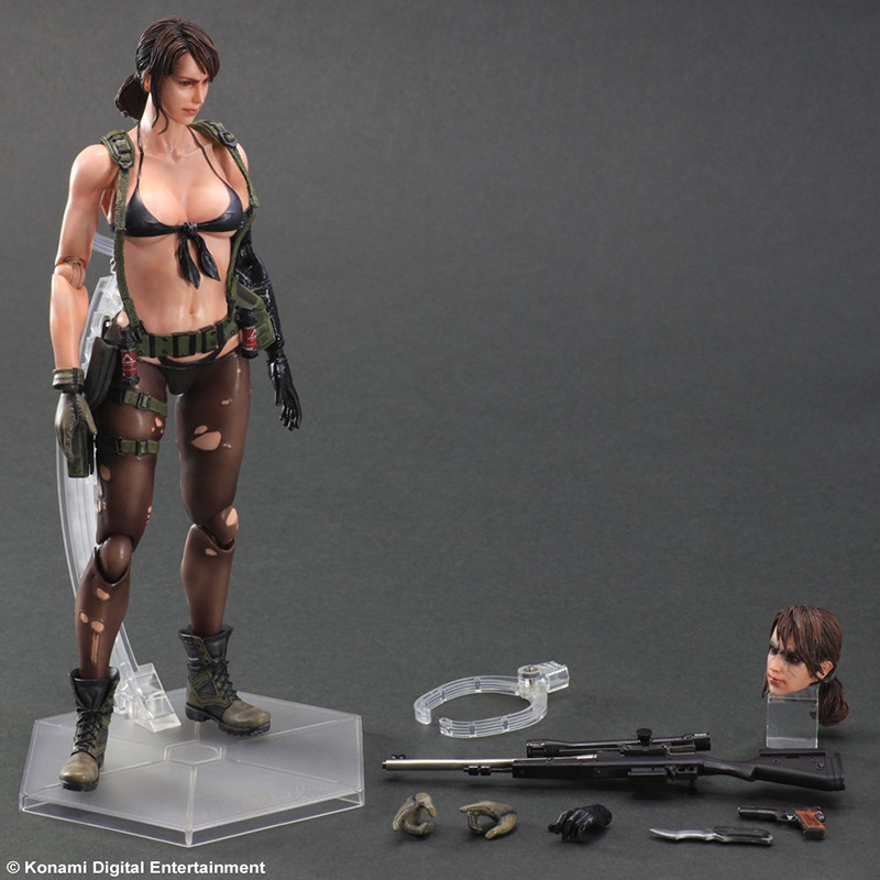 Play Arts KAI Metal Gear Solid V The Phantom Pain Quiet PVC Action Figure Collectible Model Toy 26cm 1 6 scale model metal gear solid v the phantom d dog diamond dog about 23cm collectible figure model toy gift