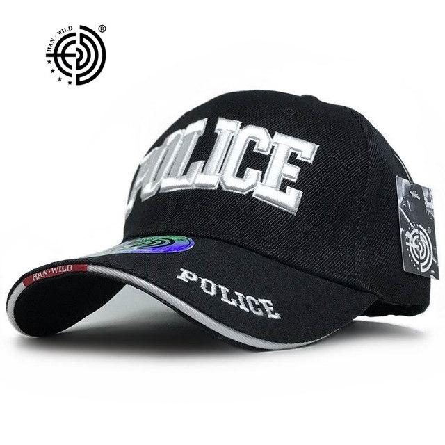HAN WILD  Brand Unisex Police Baseball Cap Tactical Men Caps Canvas  Adjustable Letter Feminino 61fbec44933