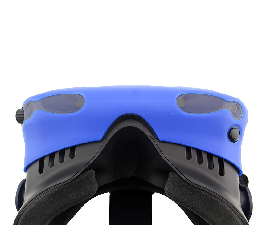 For HTC VIVE PRO VR Virtual Reality Headset Silicone Rubber VR Glasses Helmet Controller Handle Case 0039