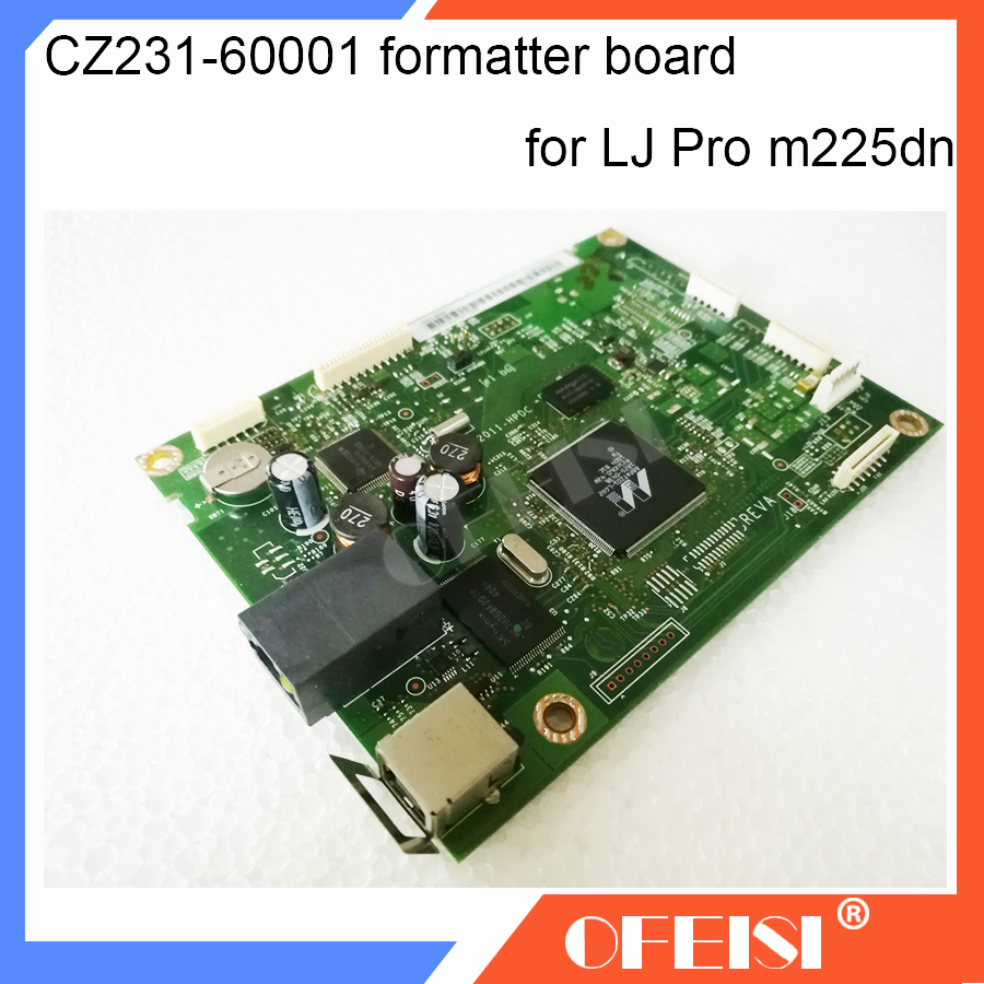 Original CZ231-60001 Formatter Board PCA ASSY logic Main Board MainBoard mother board for HP Pro MFP M225 M225DN printer parts 1pcs lot ce941 60001 ce94160001 printer formatter main mother main board for hp laser jet lj m551dn m551 dn m551 genuine