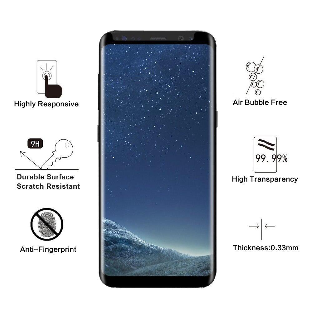 Փոքր տարբերակ 3D Curved Edge Tempered Glass for Samsung - Բջջային հեռախոսի պարագաներ և պահեստամասեր - Լուսանկար 4
