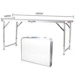 120X60X70 4Ft Draagbare Multifunctionele Opvouwbare Tafel Bureau Utility Tafel Voor Indoor Outdoor Camping Picknicks Barbecues-vs Voorraad
