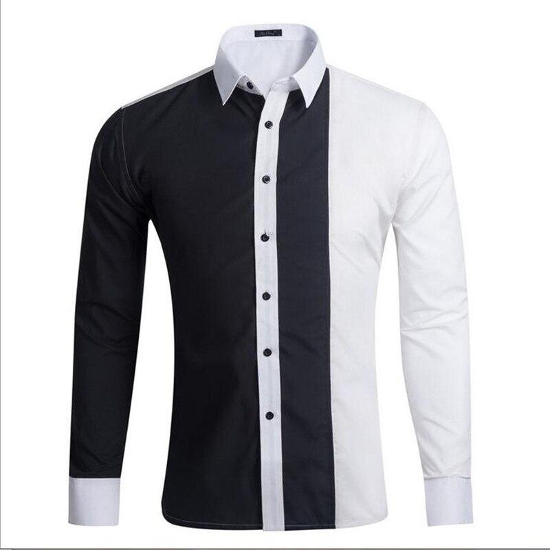 Vska Men Turn-Down Collar Long Sleeve Leisure Plaid Oversized T-Shirts Shirts