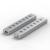 Aluminio HUB USB de 7 puertos de alta velocidad de transmisión USB3.0 honorable hub conjunto peine para MAC Notebook etc Blueendless nuevo llega H702U3