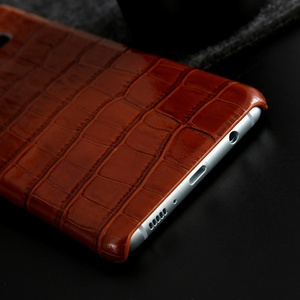 Image 4 - Crocodile Grain 100% Genuine Leather Back Cover Case for Samsung Galaxy S9 S10 S20 Plus S20 Ultra Classic Real Cow Leather Case
