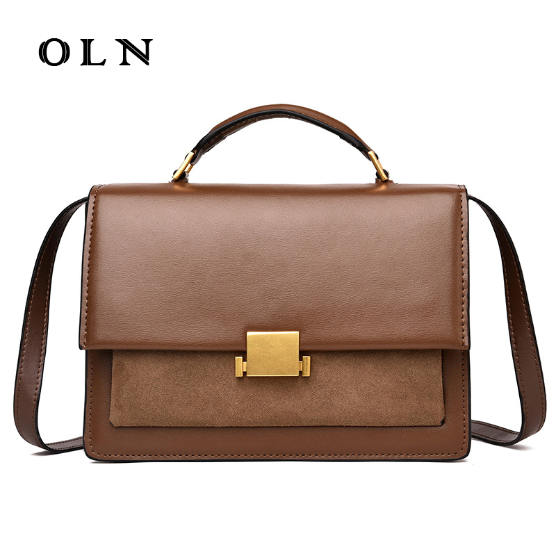 OLN Brand Designer Women's Shoulder Bag Genuine Leather Handbags for Female Real Cow Women Messenger Bags Ladies Tote Bags luxury brand women s genuine leather handbags for women bag designer vintage soft cow brown messenger shoulder bags female tote