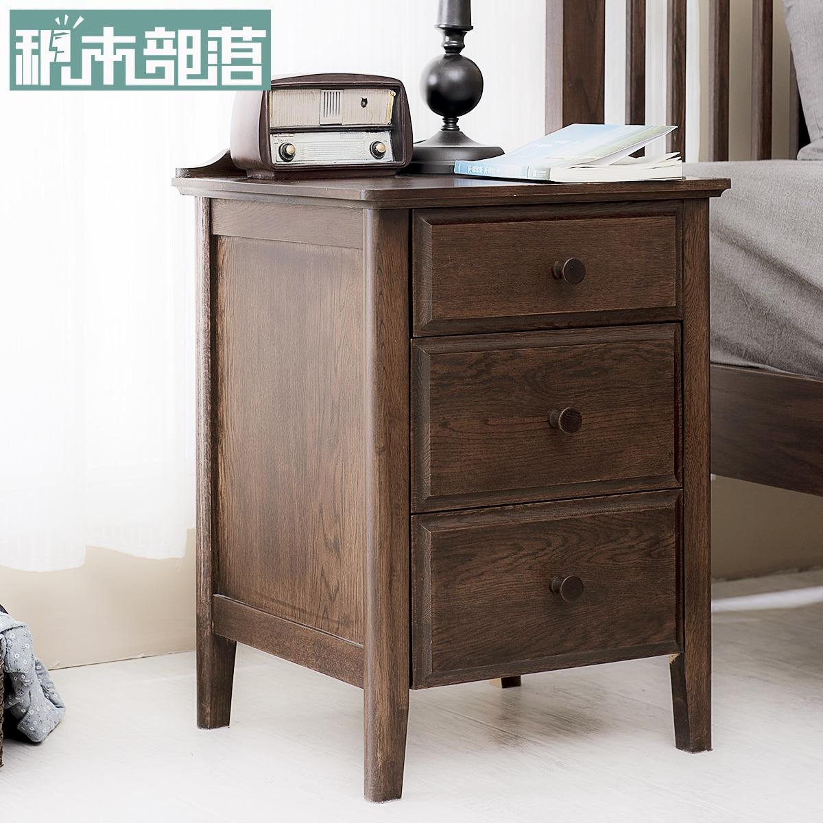 Aliexpress.com : Buy The Building Blocks Of Pure Tribal Bedside Table  Simple Modern American Oak Retro Bedroom Bedside Locker From Reliable  Bedside Lockers ...